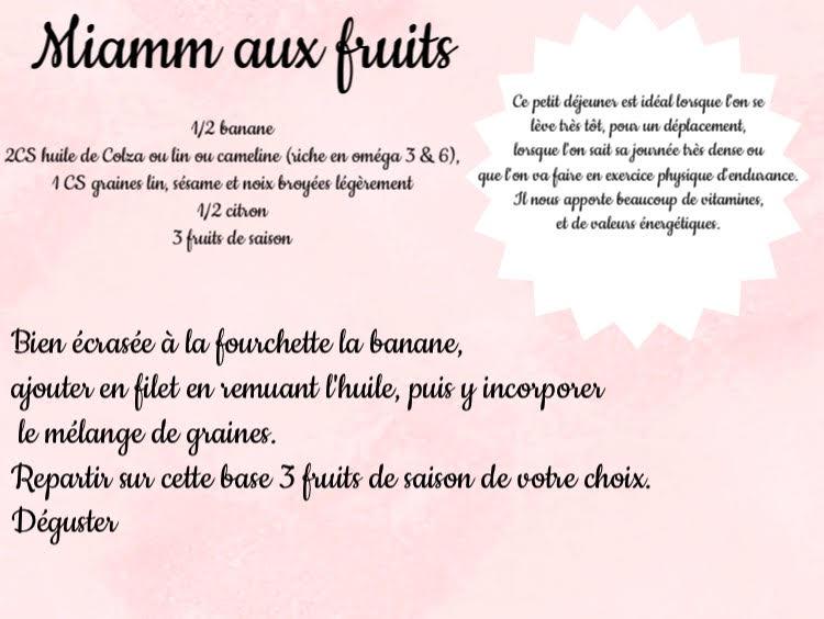 miam aux fruits
