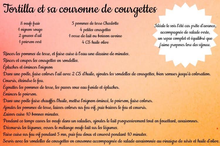 Tortilla et sa couronne de courgette